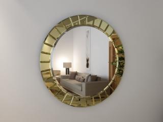 Зеркало Бевелс gold