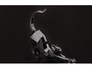 """Полігональна скульптура """"Кішка"""""""