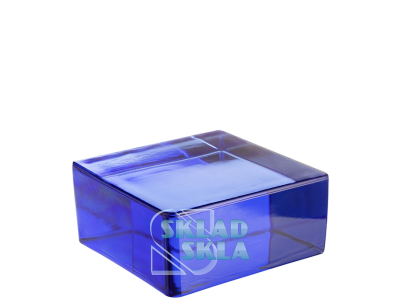 Скляна цегла Vetropieno Blue Quadrato