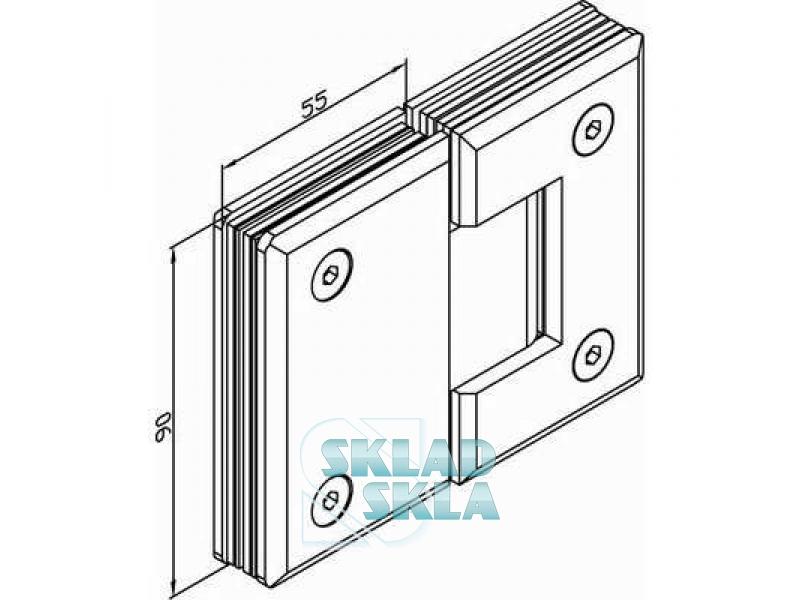 Петля душова скло-стіна HDL-303