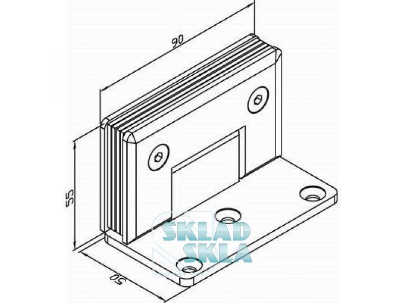 Петля душова скло-стіна HDL-305