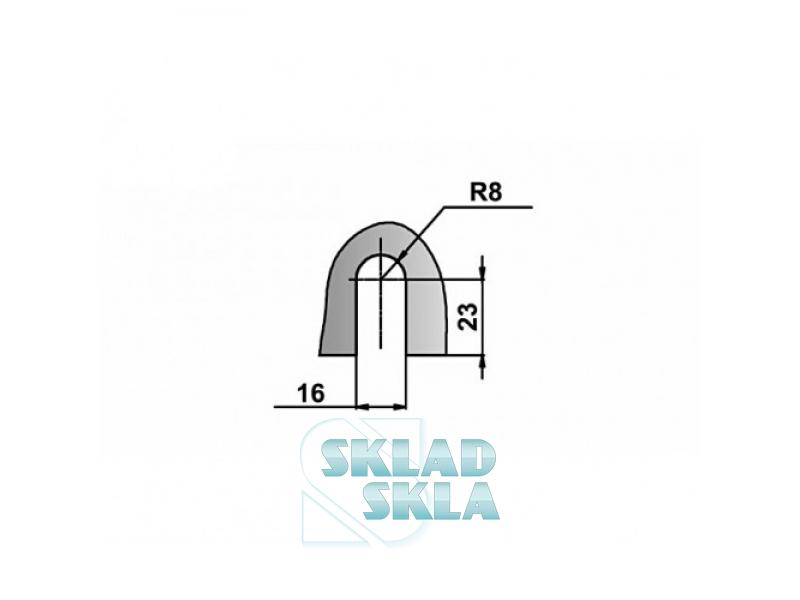 Конектор душовий скло-стіна HDL-722