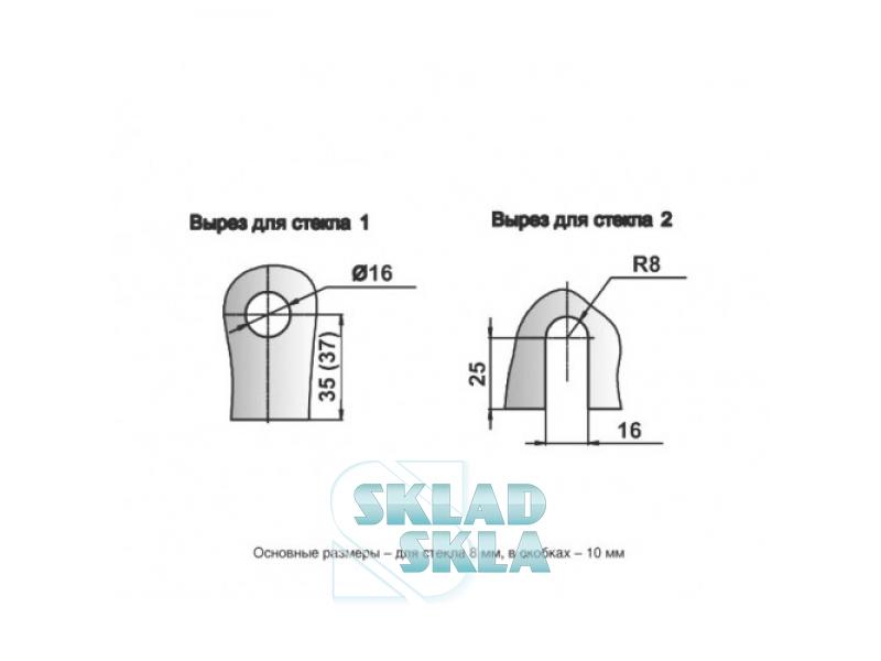 Конектор душовий скло-стіна HDL-725