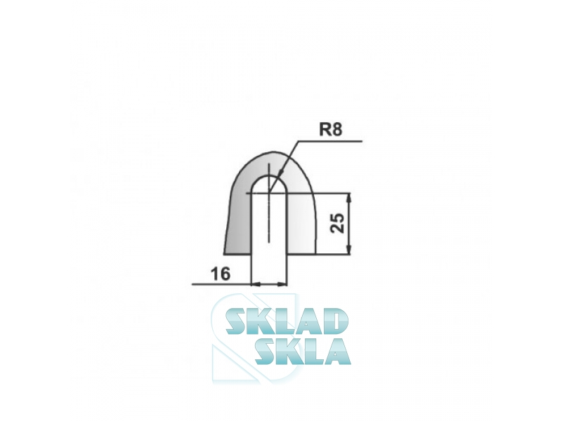 Конектор душовий скло-скло HDL-726
