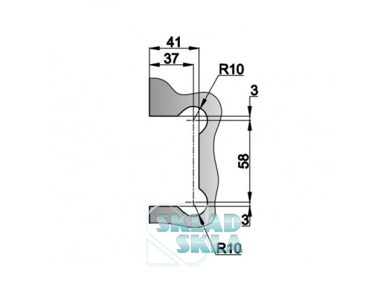 Петля душова скло-стіна HDL-301