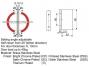 Петля душова скло-стіна HDL-307