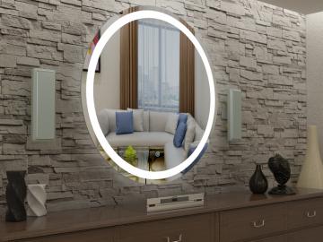 Дзеркало з LED підсвіткою Кругле