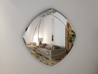 Зеркало с гравировкой Оracolo