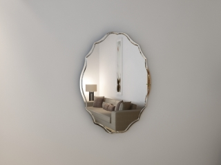 Зеркало с гравировкой Ovale