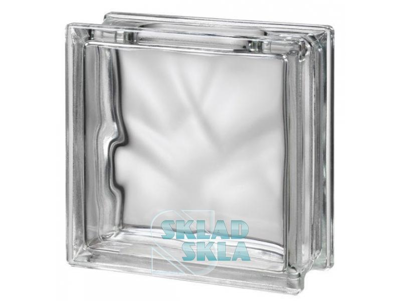 Стеклоблок Seves Clear 1919/8 Wave 190х190х80 Прозрачный Бесцветный