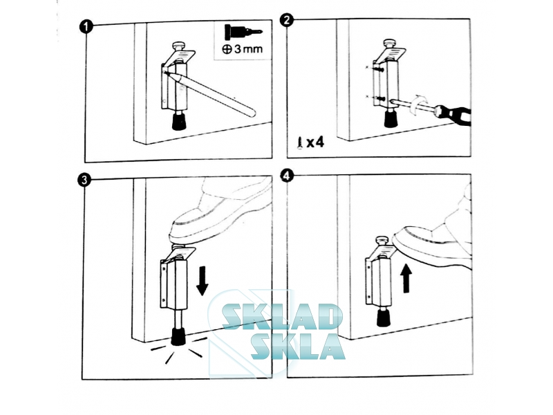 Стопор для дверей REI +1327-Inx
