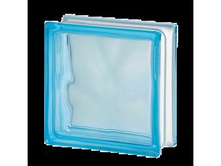 Цветной стеклоблок Волна 1919/8 Wave Azur