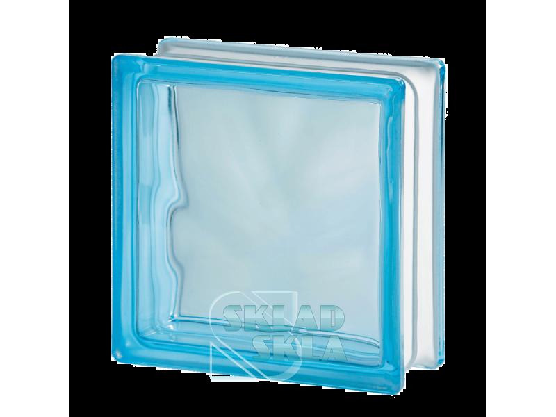 Стеклоблок Seves Azur Wave 1919/8 190х190х80 Прозрачный Голубой