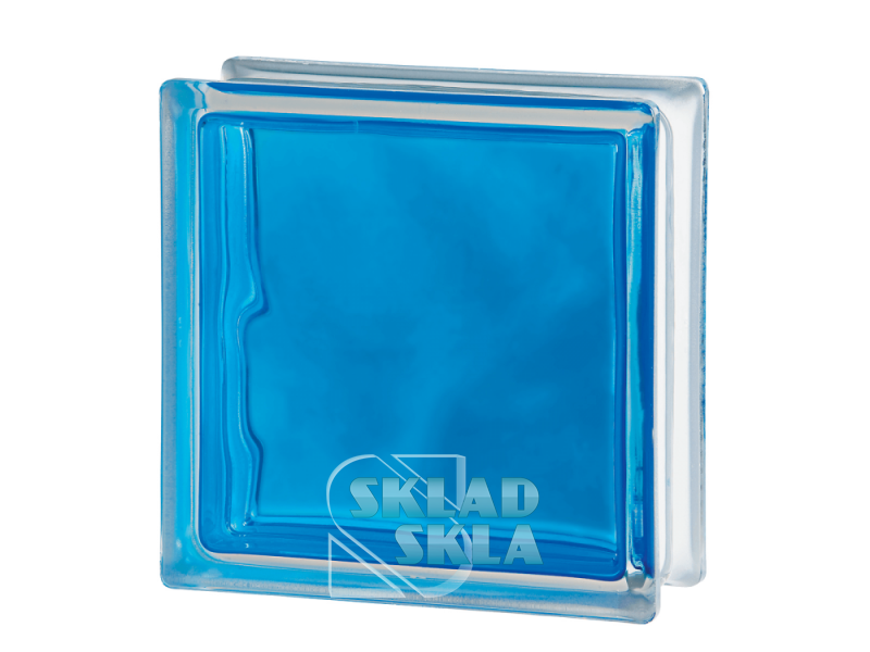 Стеклоблок Seves Brilly Blue Wave 1919/8 190х190х80 Прозрачный Синий