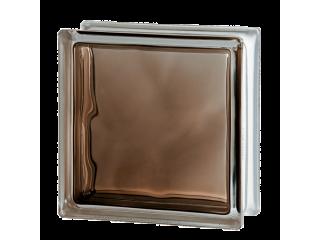 Стеклоблок цветной Brilly 1919/8 Wave Bronze