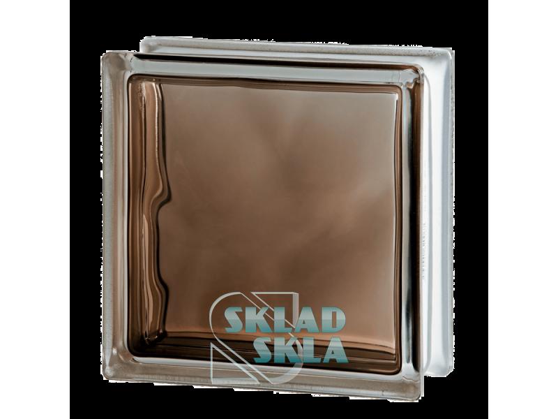 Стеклоблок Seves Brilly Bronze Wave 1919/8 190х190х80 Прозрачный Бронзовый