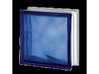 Цветной стеклоблок Волна 1919/8 Wave Blue