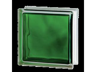 Стеклоблок цветной  Brilly 1919/8 Wave Emerald