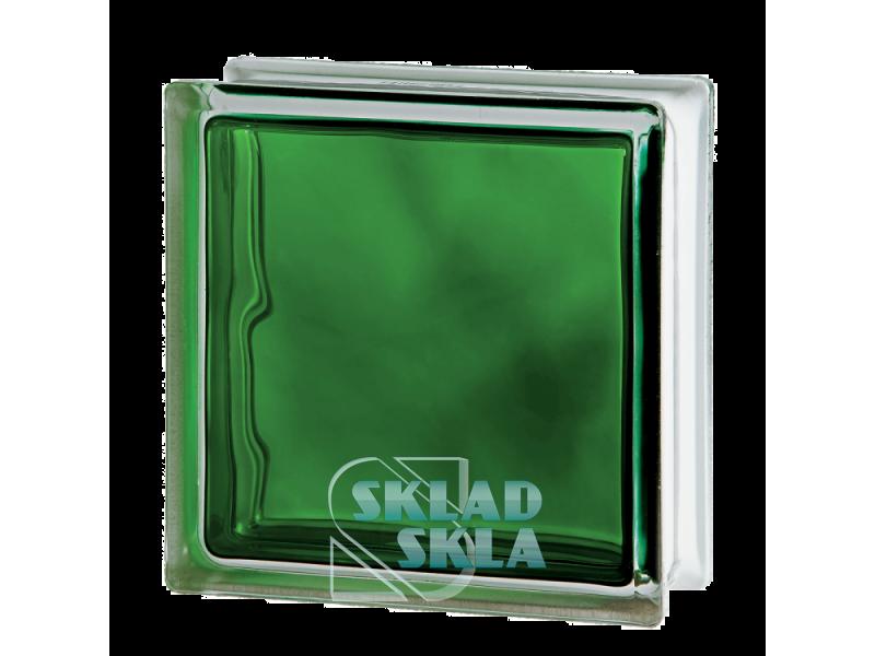 Стеклоблок Seves Brilly Emerald Wave 1919/8 190х190х80 Прозрачный Зеленый