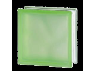 """Зеленый матированный стеклоблок """"Волна"""""""