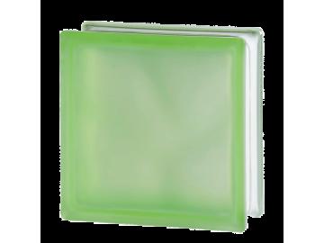 """Зелений матований склоблок """"Хвиля"""""""