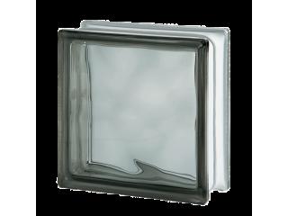 Цветной стеклоблок Волна 1919/8 Wave Grey