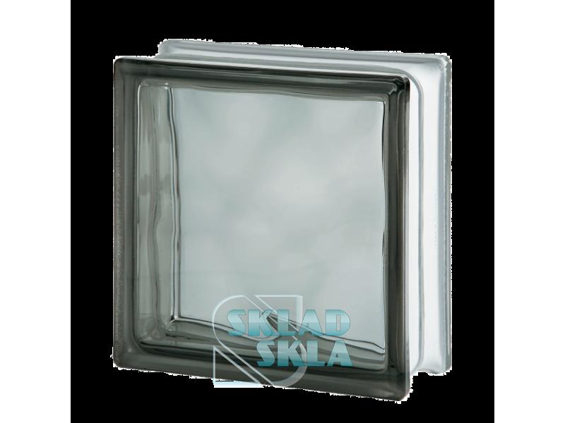 Стеклоблок Seves Grey Wave 1919/8 190х190х80 Прозрачный Серый