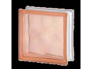 Цветной стеклоблок Волна 1919/8 Wave Pink