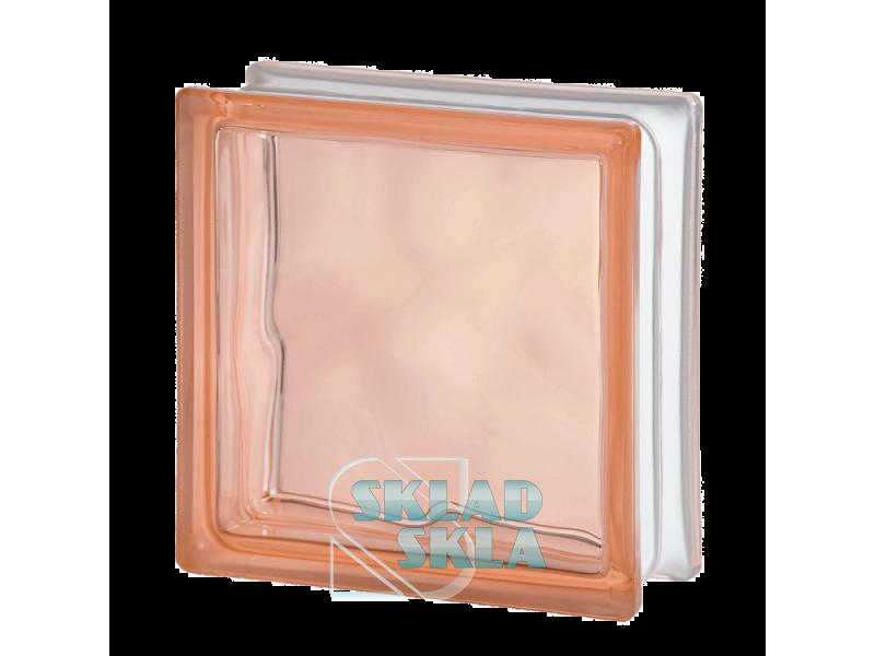 Стеклоблок Seves Pink Wave 1919/8 190х190х80 Прозрачный Розовый