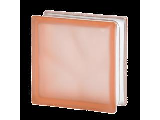 """Розовый матированный стеклоблок """"Волна"""""""