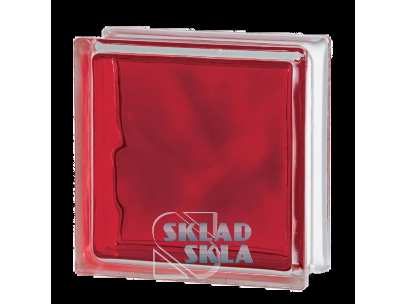 Стеклоблок Seves Brilly Red Wave 1919/8 190х190х80 Прозрачный Красный