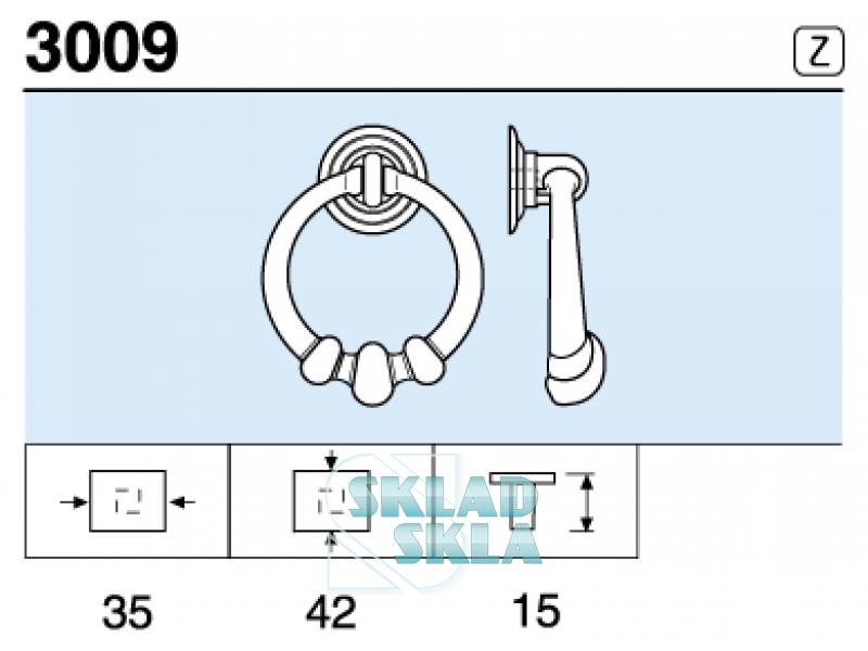 Меблева ручка REI 3009