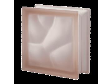 Матований склоблок кольоровий рожевий хвиля Q19O