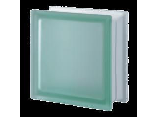 """Матовый стеклоблок  зеленый """"Гладкий"""" Q19T"""