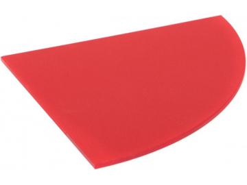 Полиця скляна червона радіусна