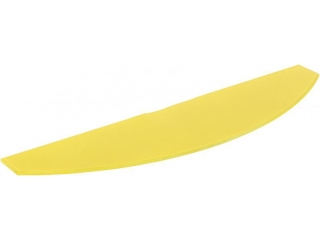 Полка стеклянная желтая арка