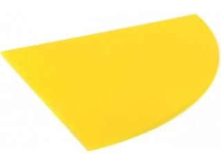 Полка стеклянная желтая радиусная