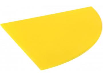 Полиця скляна жовта радіусна