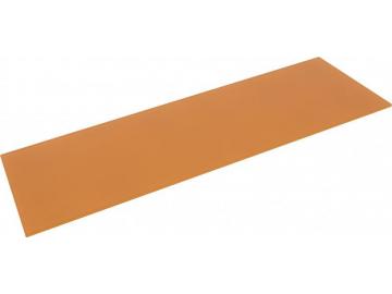 Полиця скляна коричнева прямокутна