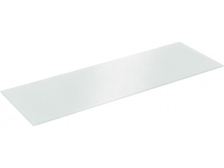 Полка стеклянная  серая прямоугольная