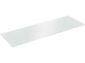Полиця скляна сіра прямокутна