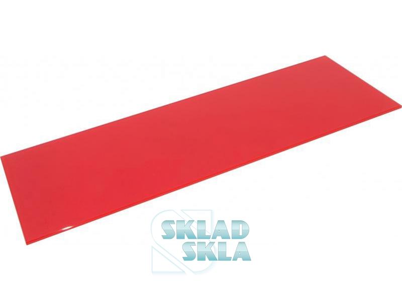 Полиця скляна червона прямокутна