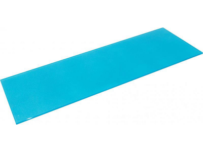 Полка стеклянная голубая прямоугольная