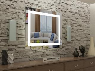 Зеркало с LED подсветкой Kvadra