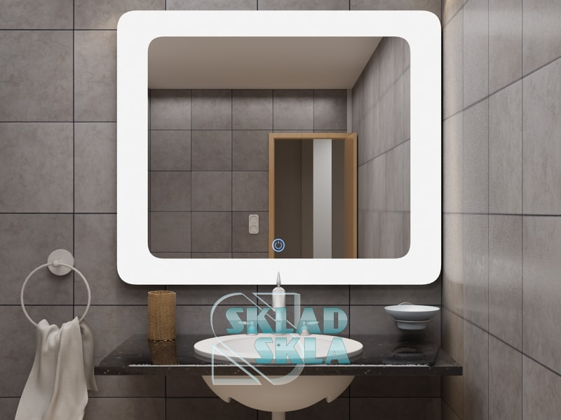 Зеркало с LED подсветкой Cosmo White