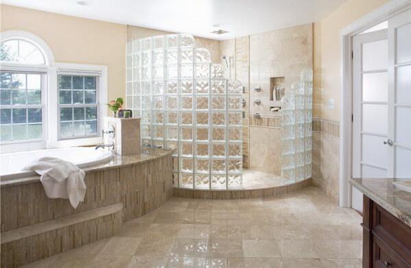 стеклоблоки в ванной фото на сайте склад скла
